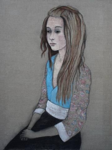 Bilde av Dreads, maleri av June Sira