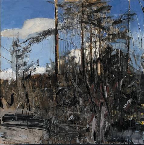 Bilde av En brent skog av Odd Skullerud