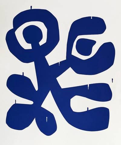 Bilde av Dancing Djuice Face (Blue) av Lasse Skarbøvik