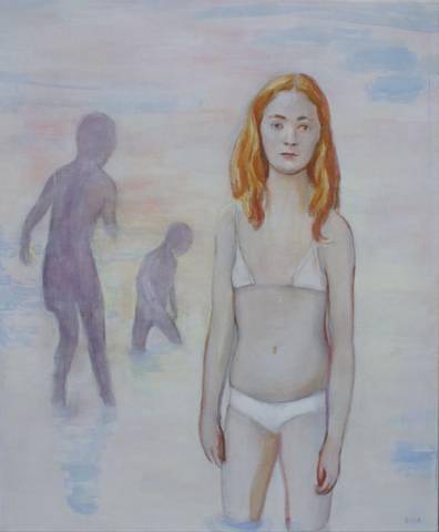Bilde av Badere, maleri av June Sira