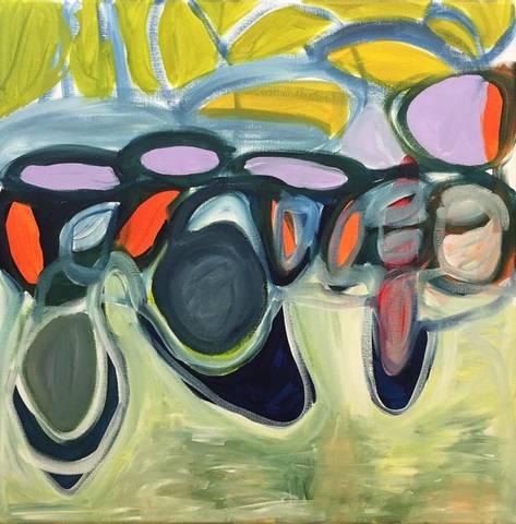 Bilde av Vår 1, maleri  av Eline Smith