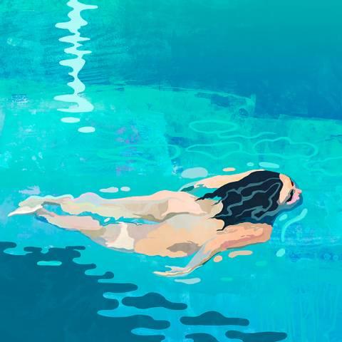 Bilde av Swimmer av Rino Larsen